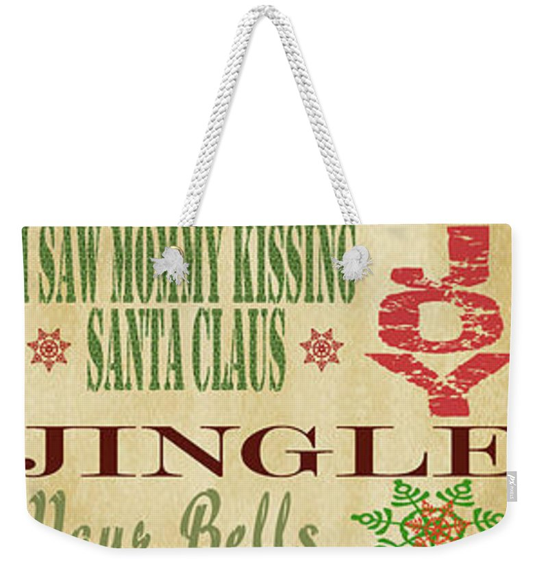 Jean Plout Weekender Tote Bag featuring the painting Believe-christmas by Jean Plout