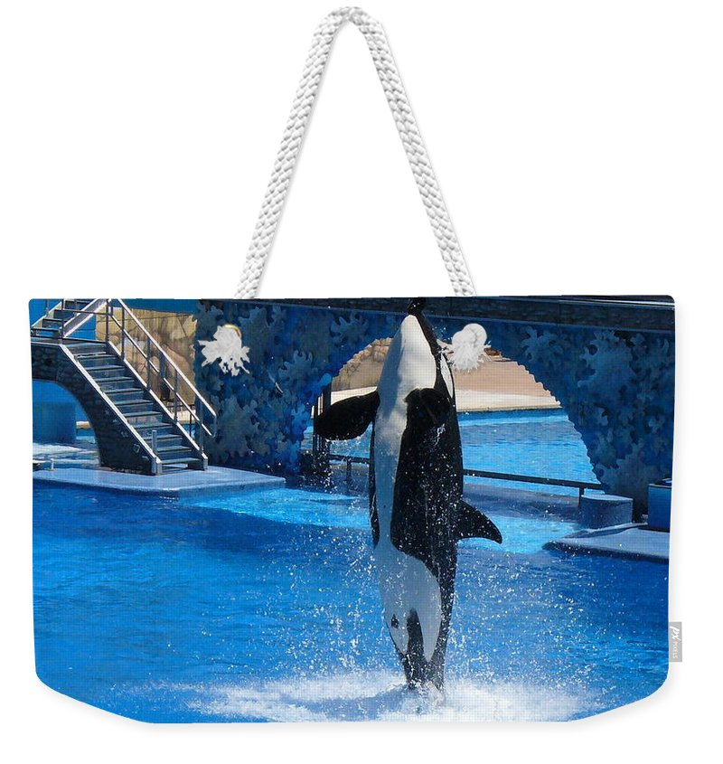 Orca Whale Photography Weekender Tote Bag featuring the photograph Believe by Lingfai Leung