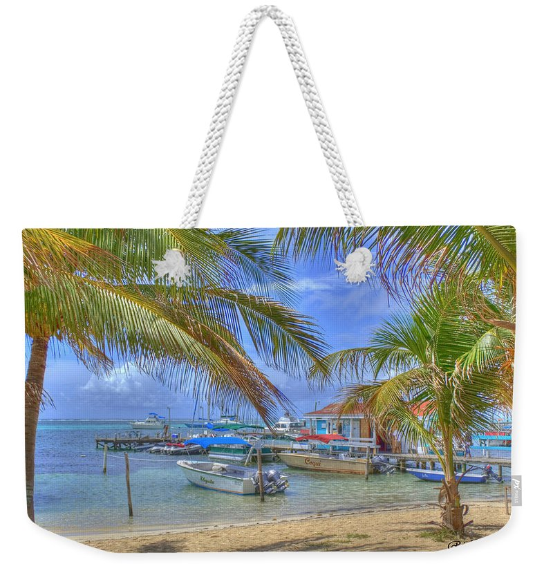 Belize Weekender Tote Bag featuring the photograph Belize Hdr by Debby Richards