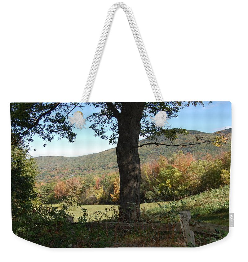 Gilford Weekender Tote Bag featuring the photograph Belknap Mountain by Mim White