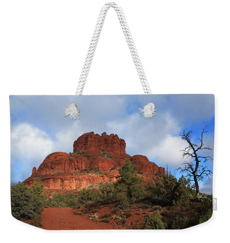 Sedona Weekender Tote Bag featuring the photograph Bell Rock by Donna Kennedy