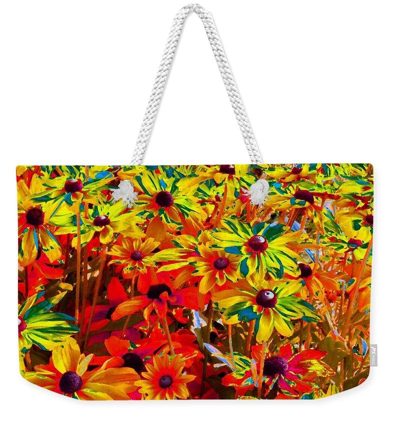 Bella Flora Painting Weekender Tote Bag featuring the digital art Bella Flora Painting by Will Borden