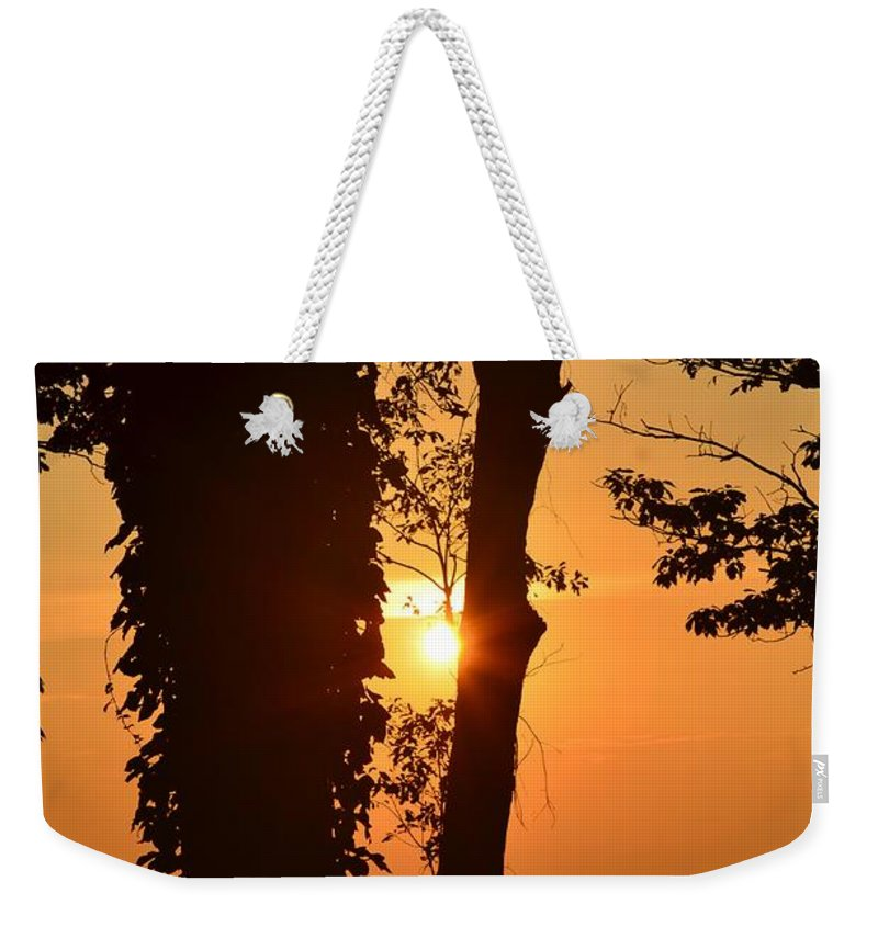 Bella Vista Sunset 3 Weekender Tote Bag featuring the photograph Bella Vista Sunset 3 by Maria Urso
