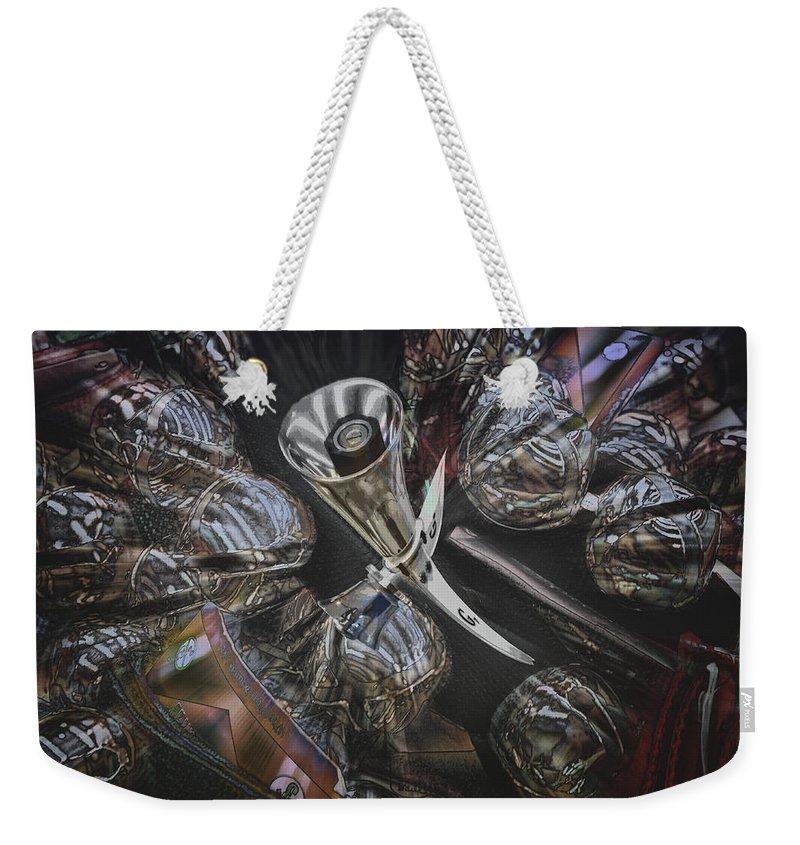 Bells Weekender Tote Bag featuring the digital art Bells by Georgianne Giese