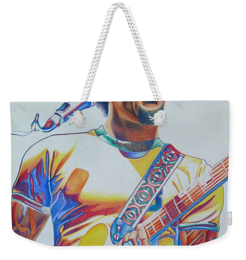 Ben Harper Weekender Tote Bag featuring the drawing Ben Harper by Joshua Morton