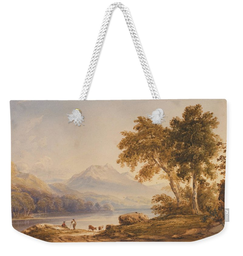 Ben Weekender Tote Bag featuring the painting Ben Vorlich And Loch Lomond by Anthony Vandyke Copley Fielding