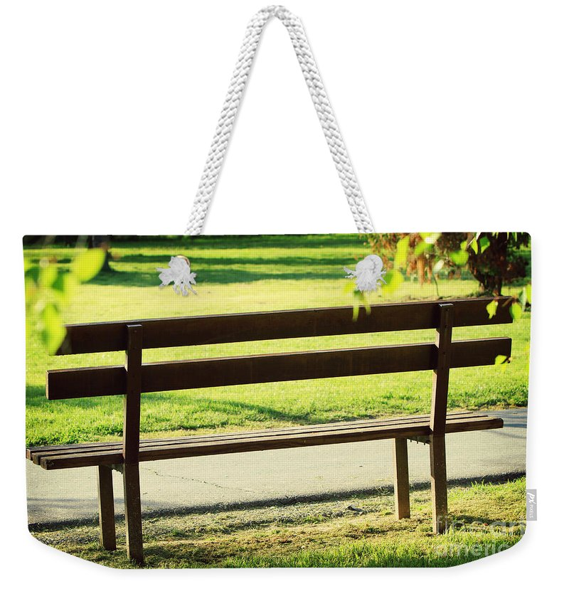 Bench Weekender Tote Bag featuring the photograph Bench by Dan Radi