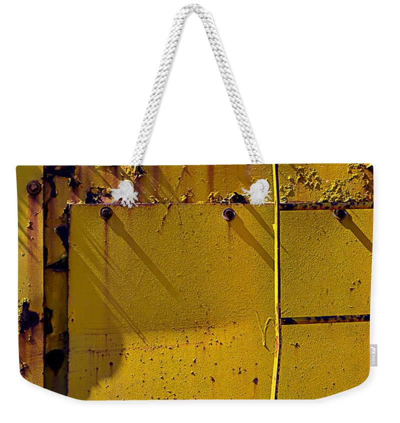 Bent Ladder Weekender Tote Bag featuring the photograph Bent Ladder by Garry Gay