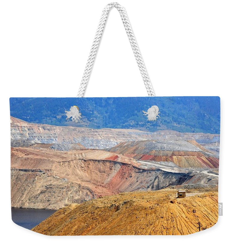 Butte Weekender Tote Bag featuring the photograph Berkeley Pit by Image Takers Photography LLC - Carol Haddon