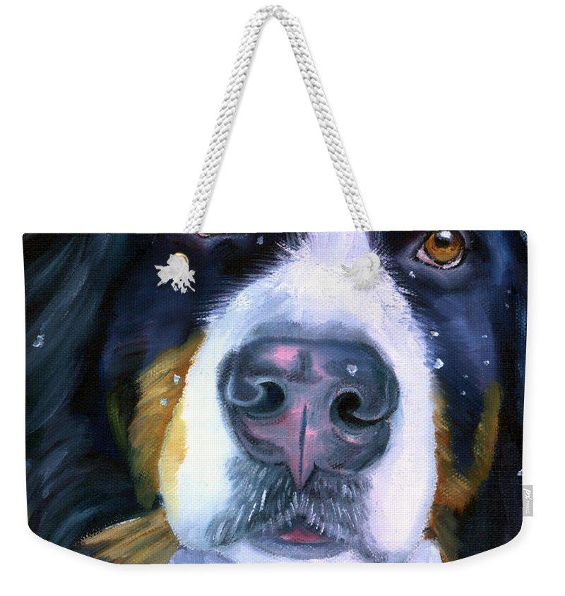 Bernese Mountain Dog  Weekender Tote Bags