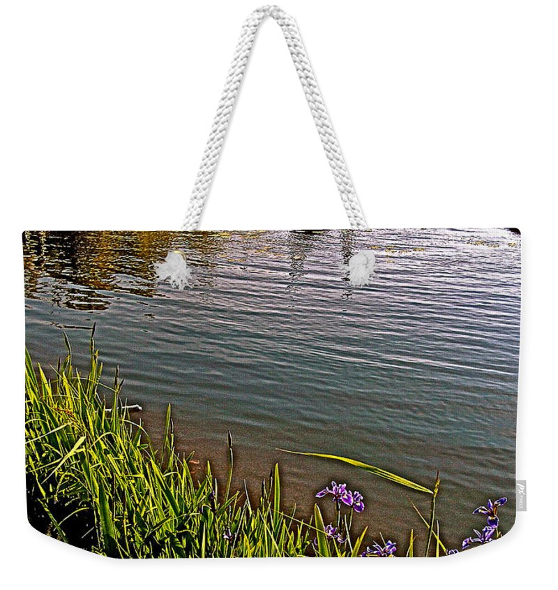Berry Hill Pond In Gros Morne Np Weekender Tote Bag featuring the photograph Berry Hill Pond In Gros Morne Np-nl by Ruth Hager