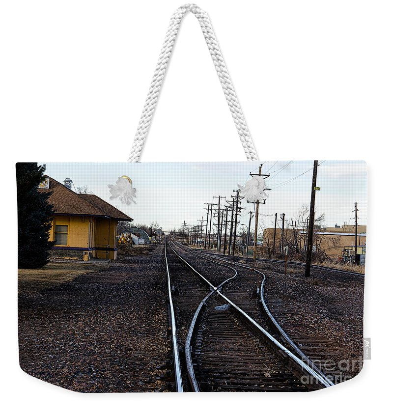 Berthoud Weekender Tote Bag featuring the photograph Berthoud R R Station by Jon Burch Photography