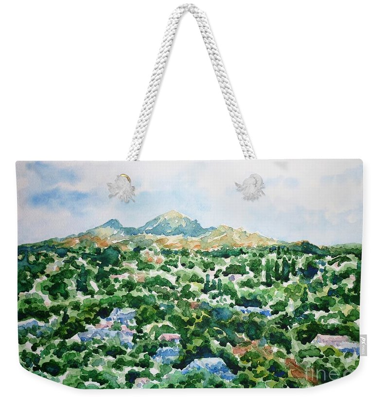 Beshtau Weekender Tote Bag featuring the painting Beshtau by Zaira Dzhaubaeva