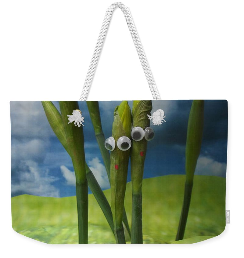 Silly Weekender Tote Bag featuring the photograph Best Buds by Caroline Peacock