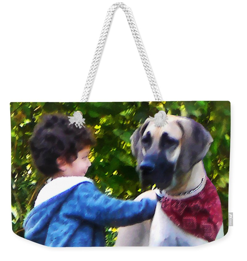 Dog Weekender Tote Bag featuring the photograph Best Friends by Susan Savad