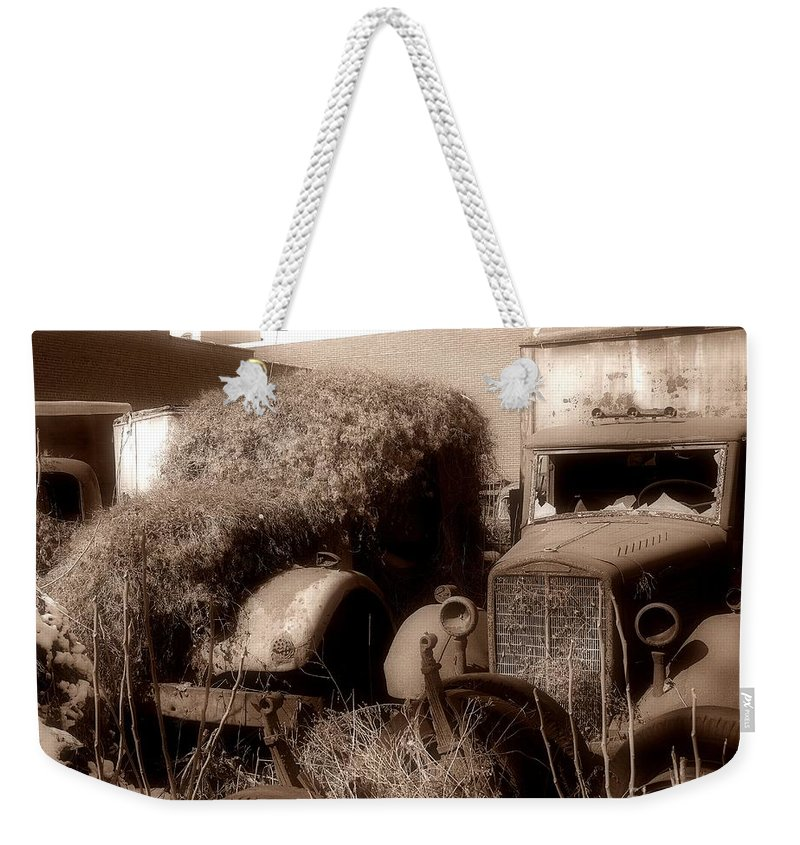Brockway Truck Weekender Tote Bag featuring the photograph Best Of Friends Pennsylvania Ave Wilkes Barre Pa by Arthur Miller