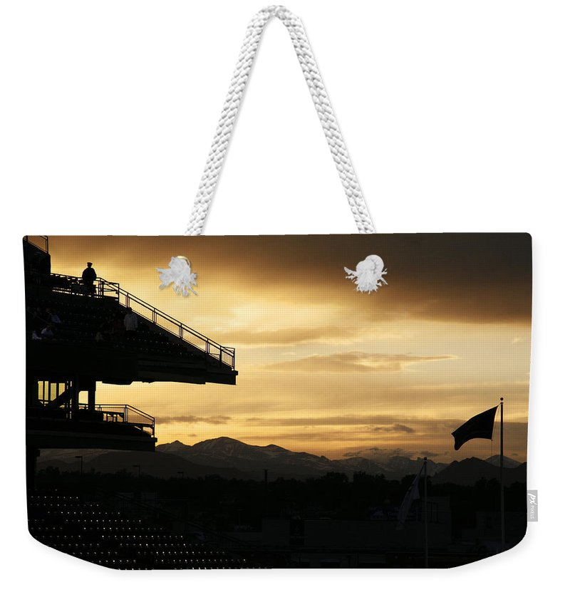Americana Weekender Tote Bag featuring the photograph Best View Of All - Rockies Stadium by Marilyn Hunt