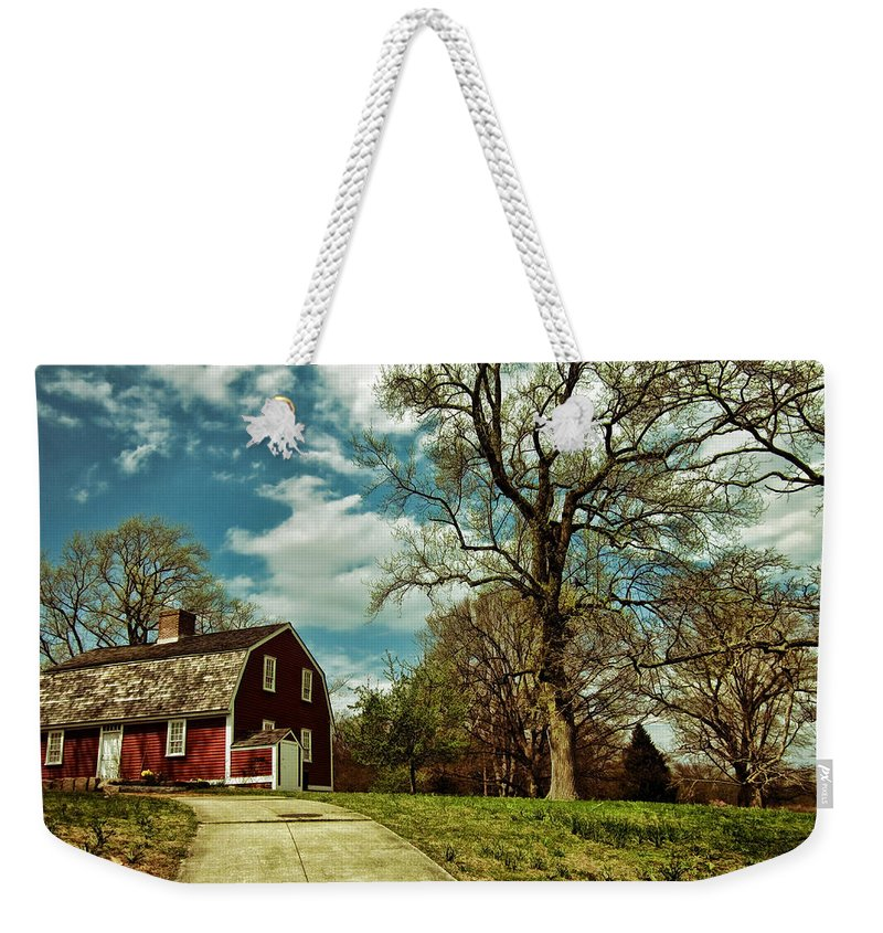 Betsy Williams Weekender Tote Bag featuring the photograph Betsy William's House by Lourry Legarde
