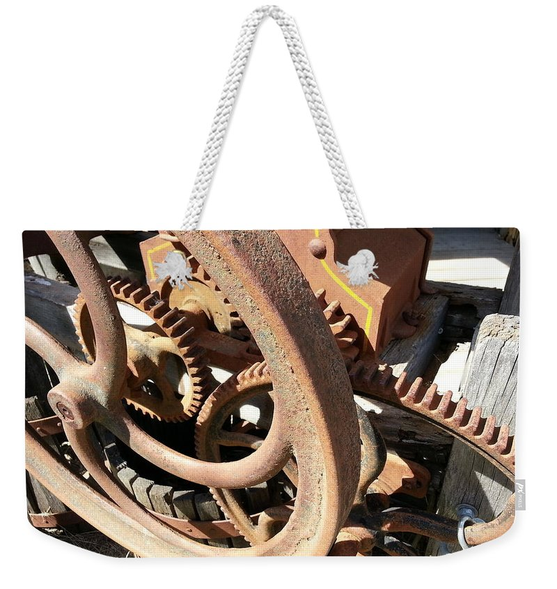 Industrial Weekender Tote Bag featuring the photograph Better Days by Caryl J Bohn