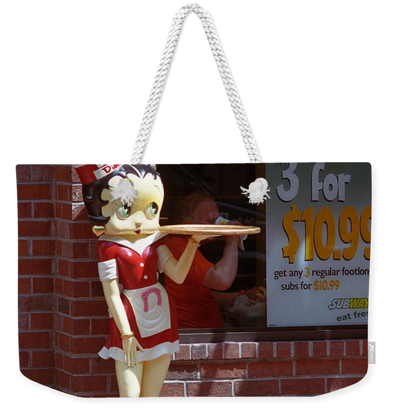 1930's Weekender Tote Bag featuring the photograph Betty Boop 1 by Frank Romeo