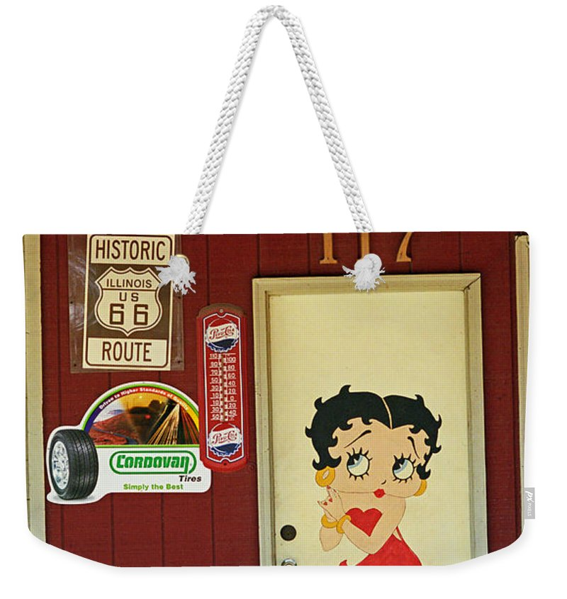 1930's Weekender Tote Bag featuring the photograph Betty Boop 2 by Frank Romeo