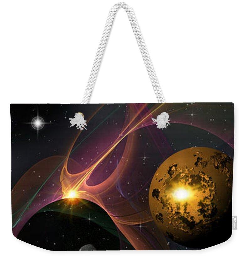 Phil Sadler Weekender Tote Bag featuring the digital art Betwixt 2 And 4 by Phil Sadler