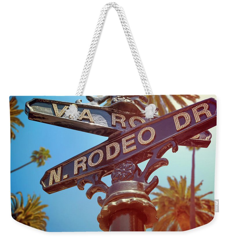 Beverly Hills Weekender Tote Bag featuring the photograph Beverly Hills California by Lpettet