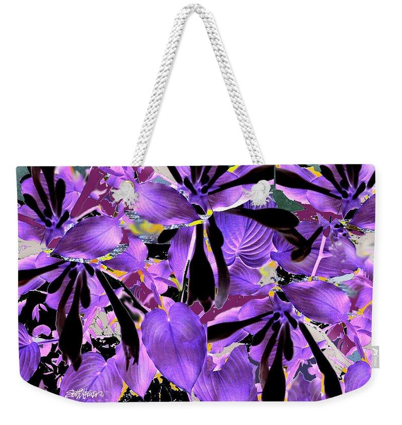 Beware The Midnight Garden Weekender Tote Bag featuring the digital art Beware The Midnight Garden by Seth Weaver