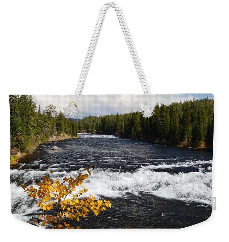 Waterfalls Weekender Tote Bag featuring the photograph Beyond The Falls by Deanna Cagle