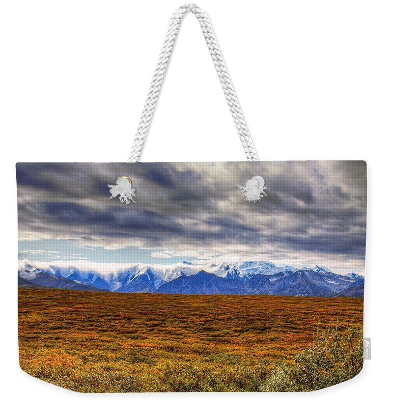 Alaska Weekender Tote Bag featuring the photograph Beyond The Tundra by Tom Weisbrook