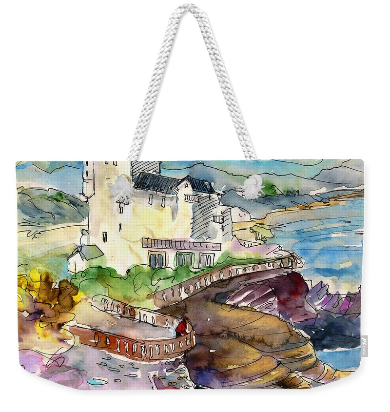 Travel Weekender Tote Bag featuring the painting Biarritz 02 by Miki De Goodaboom