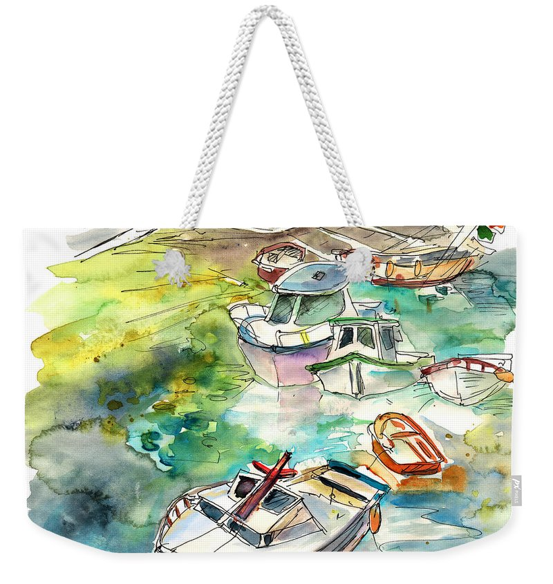 Travel Weekender Tote Bag featuring the painting Biarritz 17 Bis by Miki De Goodaboom