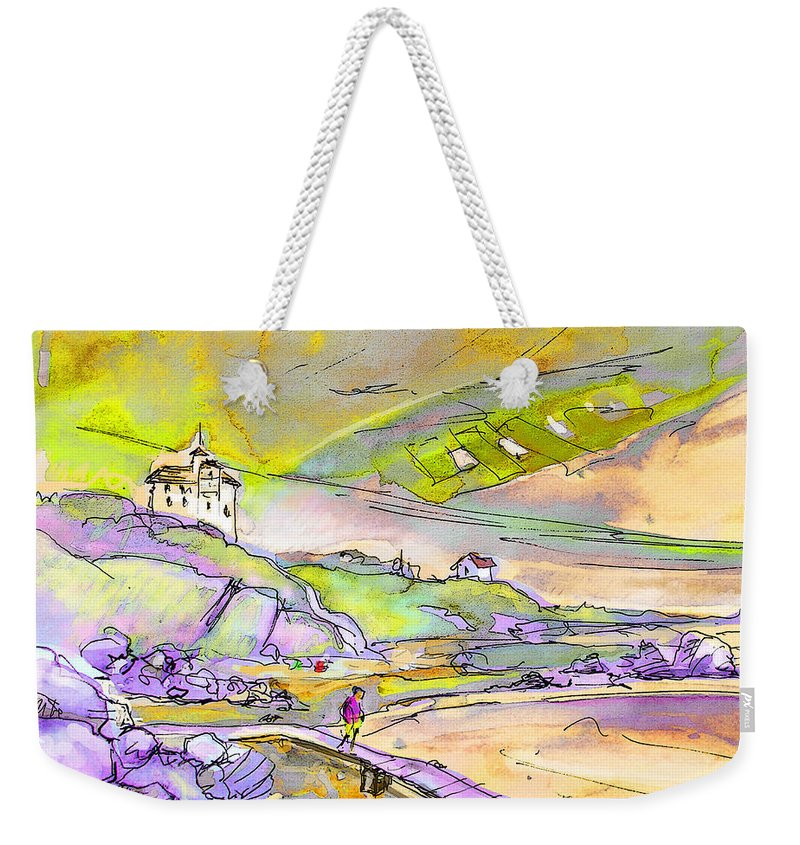 Travel Weekender Tote Bag featuring the painting Biarritz 24 by Miki De Goodaboom