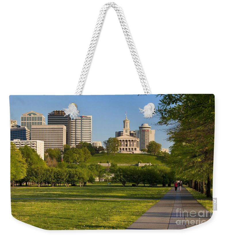 Family Weekender Tote Bag featuring the photograph Bicentennial Park Nashville by Brian Jannsen