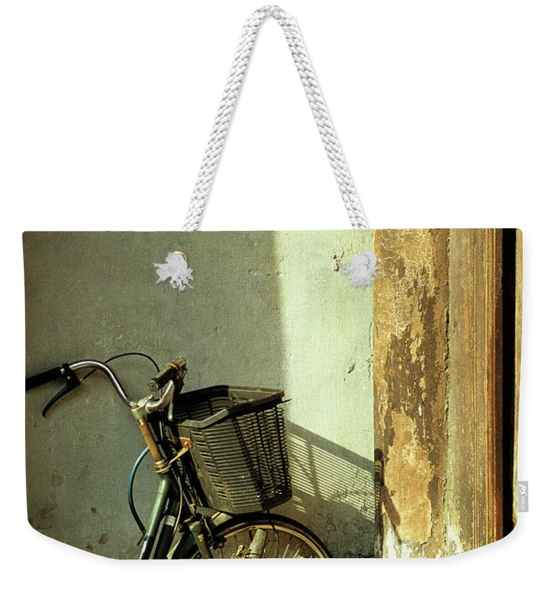 Vietnam Weekender Tote Bag featuring the photograph Bicycle 02 by Rick Piper Photography