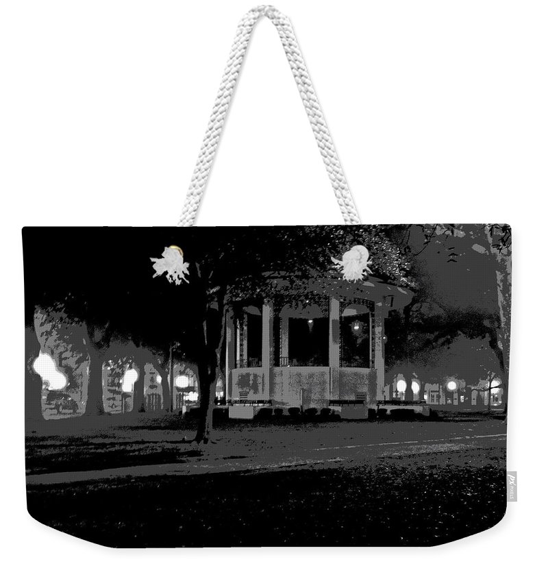 Digital Art Weekender Tote Bag featuring the photograph Bienville Square Grandstand Posterized by Marian Bell