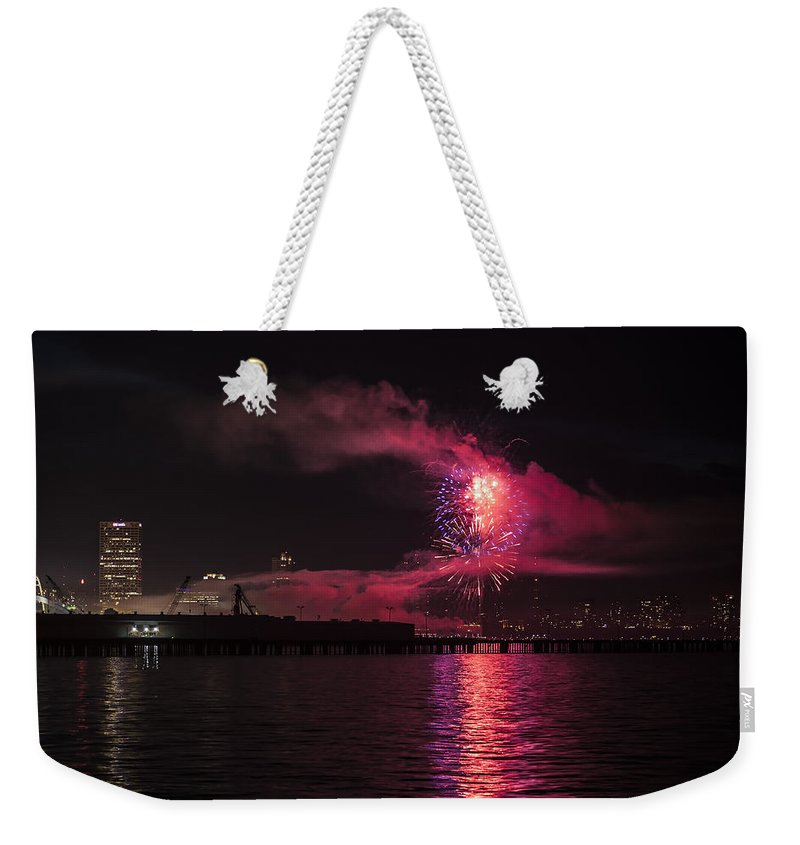 Www.cjschmit.com Weekender Tote Bag featuring the photograph Big Bang 2013 by CJ Schmit