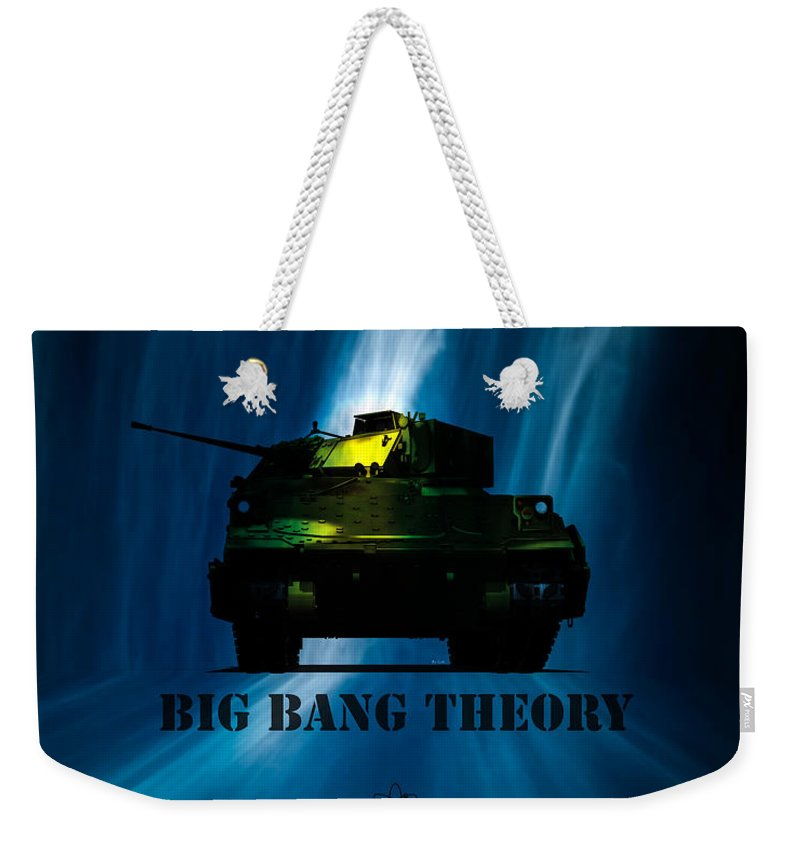 Big Bang Weekender Tote Bag featuring the digital art Big Bang Theory by Bob Orsillo