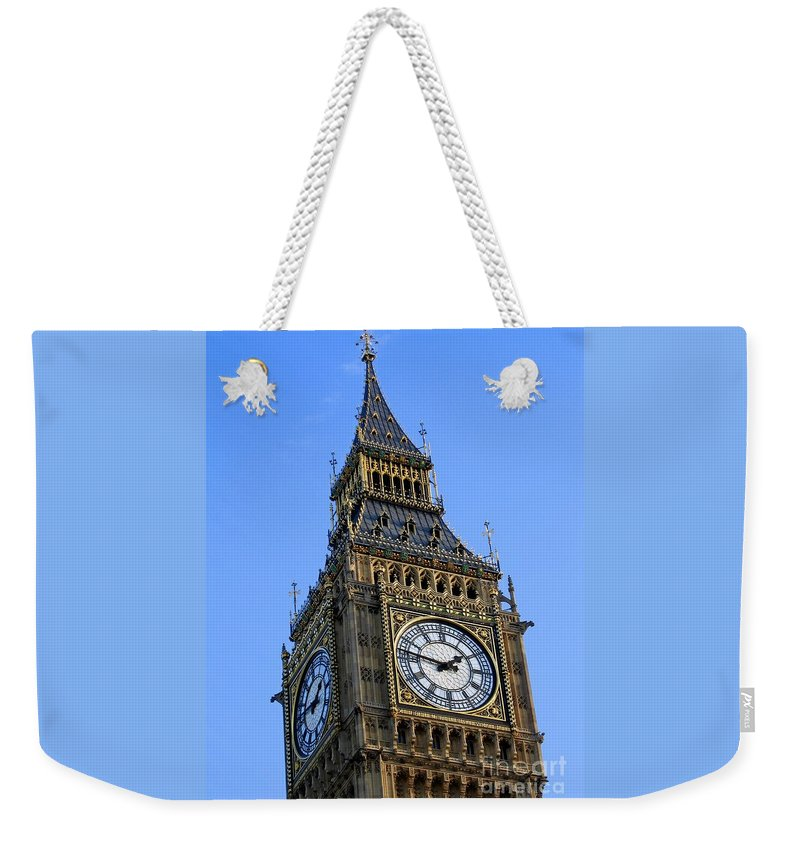 London Weekender Tote Bag featuring the photograph Big Ben by Ann Horn