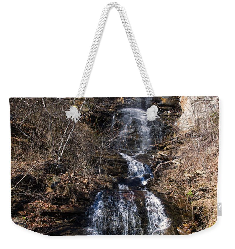 Waterfall Weekender Tote Bag featuring the photograph Big Bradley Falls 1 by Chris Flees