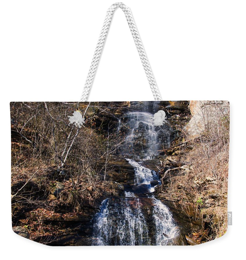Waterfall Weekender Tote Bag featuring the photograph Big Bradley Falls 2 by Chris Flees