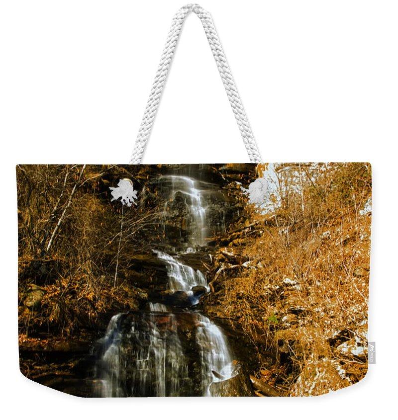 Waterfall Weekender Tote Bag featuring the photograph Big Bradley Falls 4 by Chris Flees