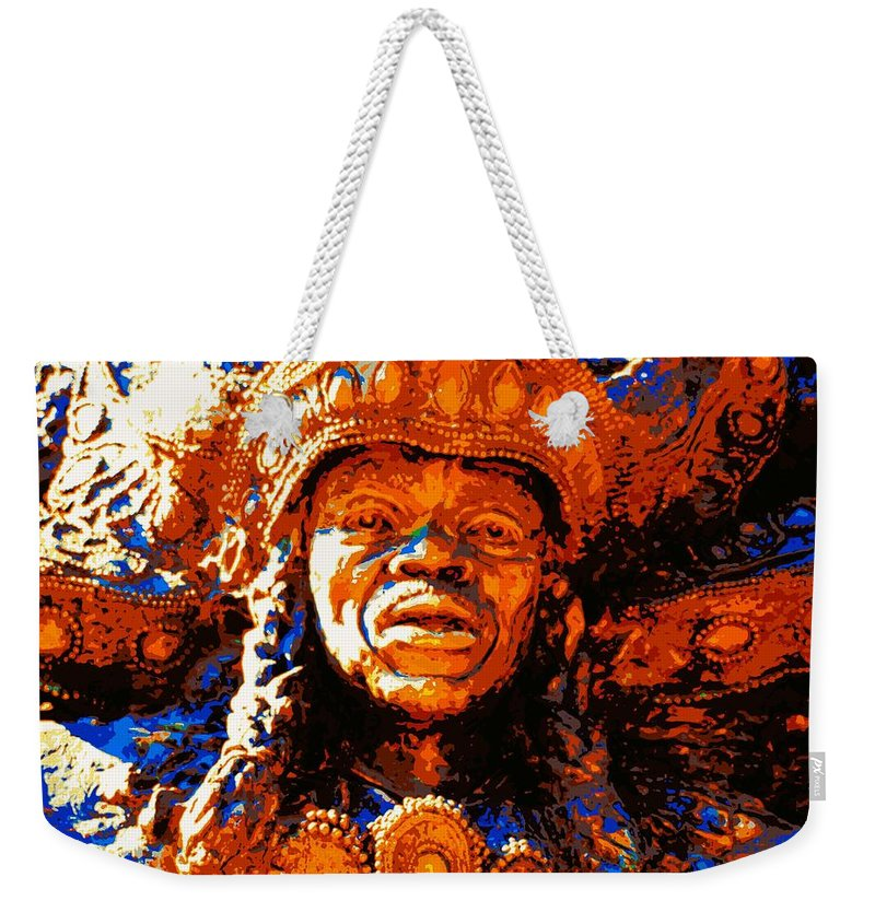 New Orleans Weekender Tote Bag featuring the photograph Big Chief Tootie by Cathy Smith