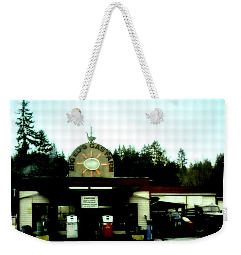 Laura Palmer Weekender Tote Bag featuring the painting Big Eds by Luis Ludzska