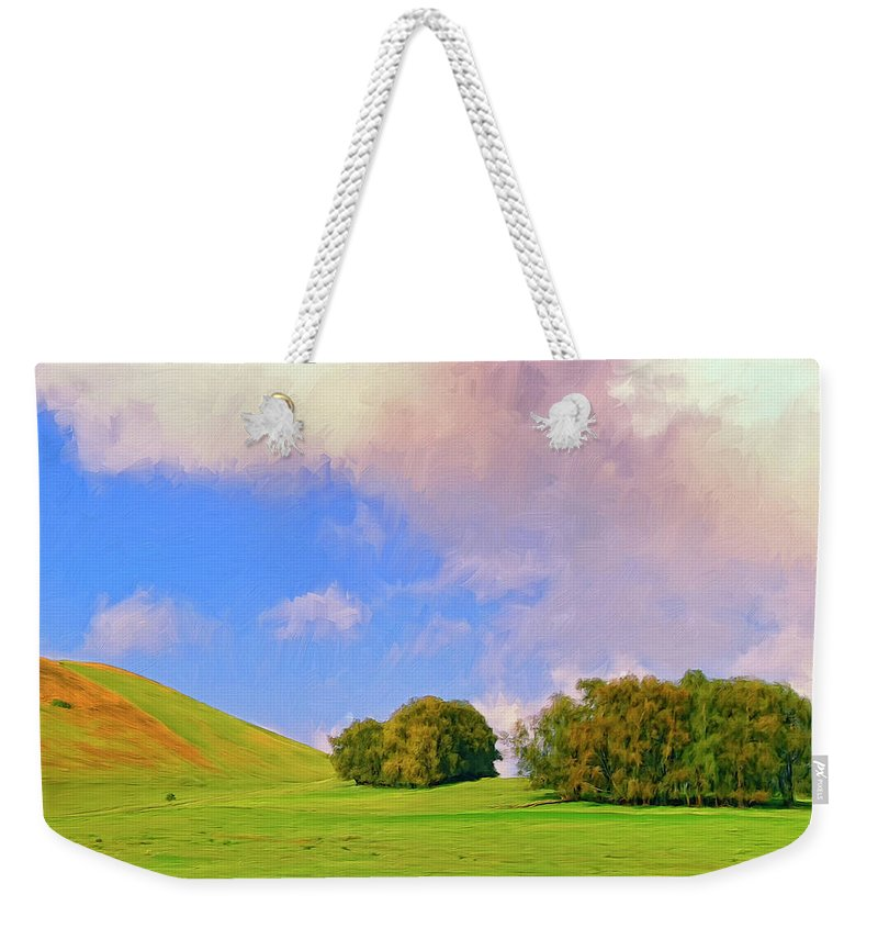 Big Island Ranch Weekender Tote Bag featuring the painting Big Island Ranch by Dominic Piperata
