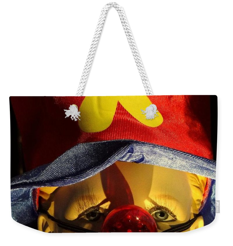 Mannequin Weekender Tote Bag featuring the photograph Big Nosed Boy by Ed Weidman
