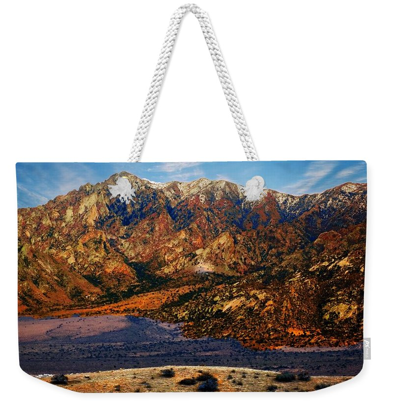 Big Rock Mountain Weekender Tote Bag featuring the photograph Big Rock Mountain by Bob Pardue
