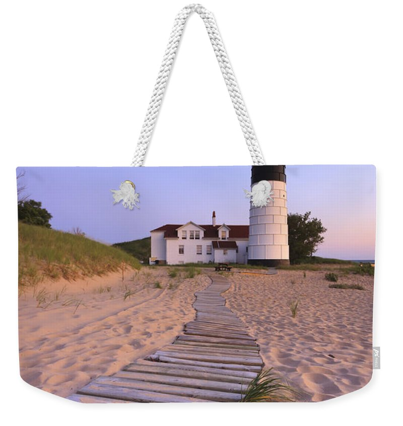 3scape Photos Weekender Tote Bag featuring the photograph Big Sable Point Lighthouse by Adam Romanowicz