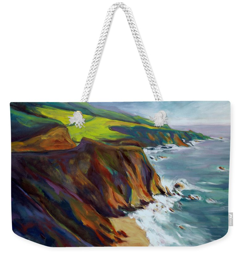 Big Weekender Tote Bag featuring the painting Big Sur 1 by Konnie Kim