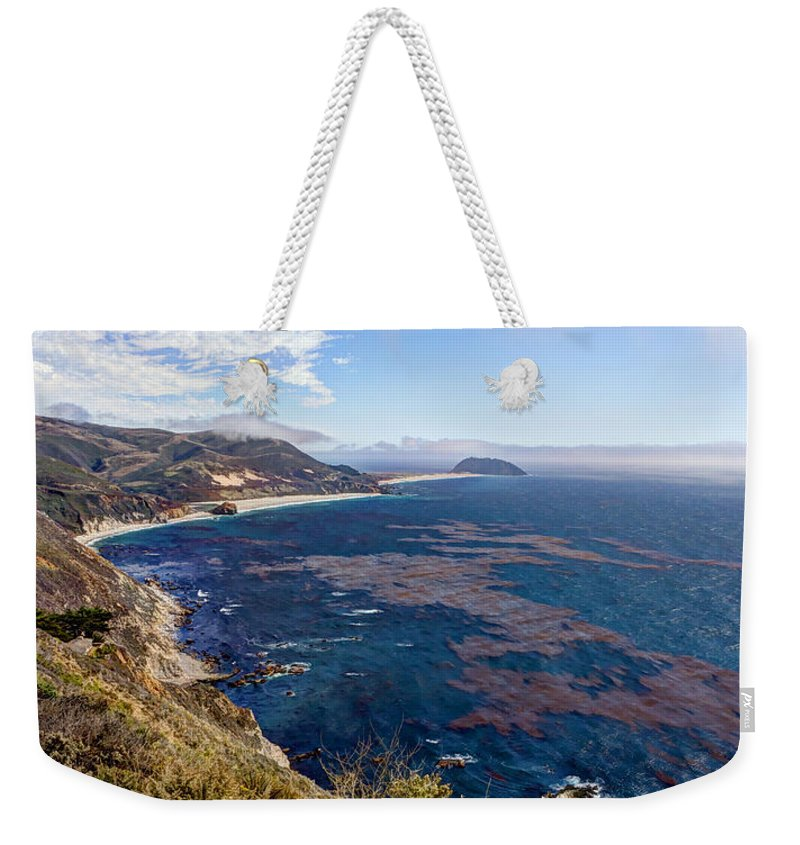 California Weekender Tote Bag featuring the photograph Big Sur Beauty by Heidi Smith